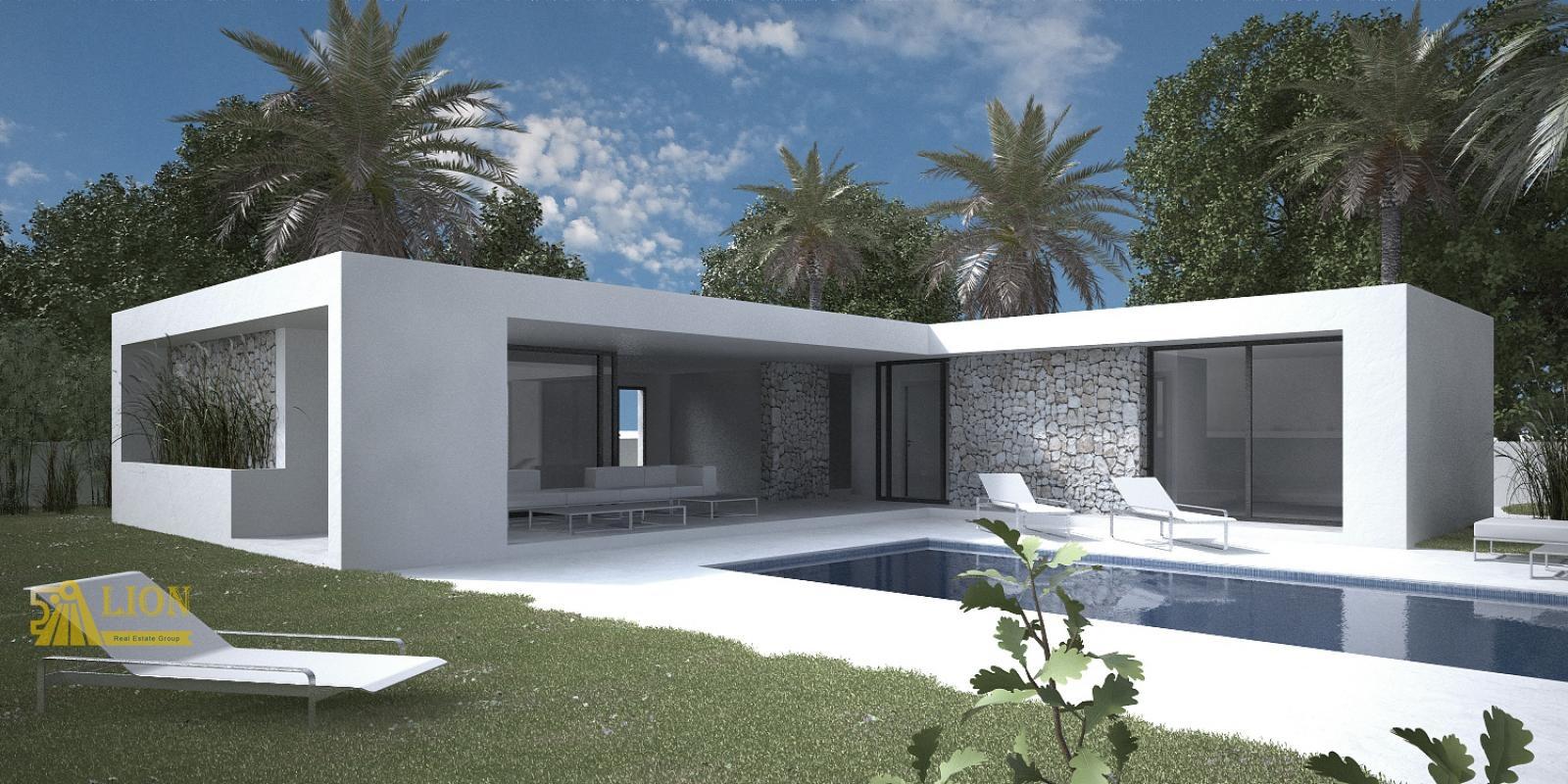 L0300 speciale aanbieding nieuw te bouwen moderne gelijkvloerse design villa in muchamiel - Zeer moderne woning ...
